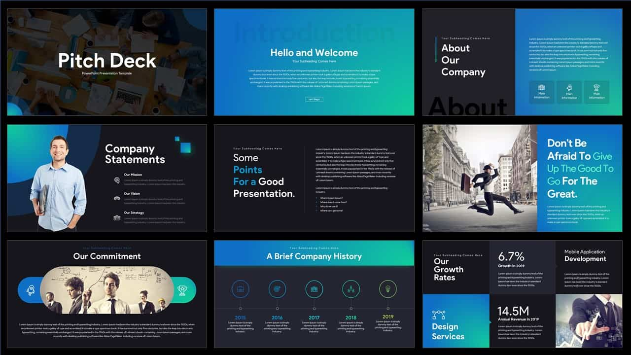 Pitch Deck PowerPoint Templates