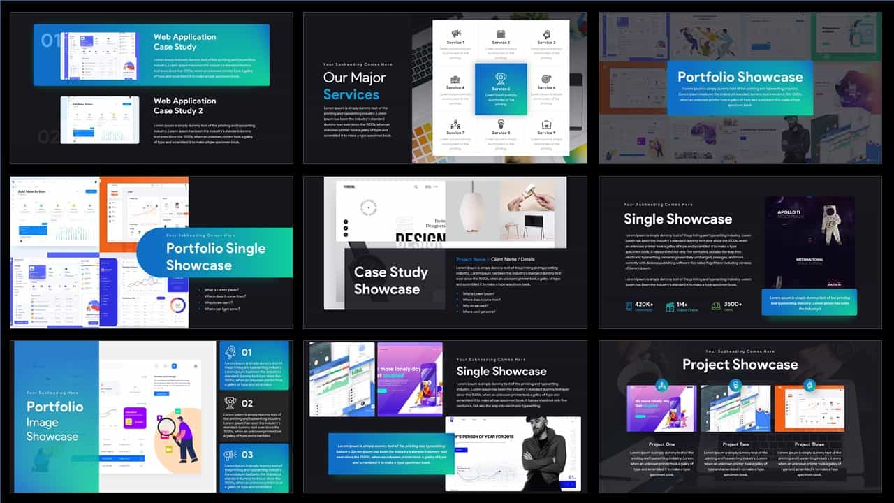 Professional pitch deck PowerPoint templates