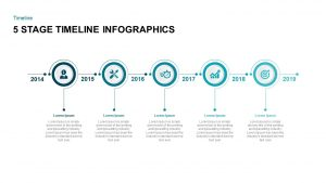 5 Stage Timeline Infographic PowerPoint Template