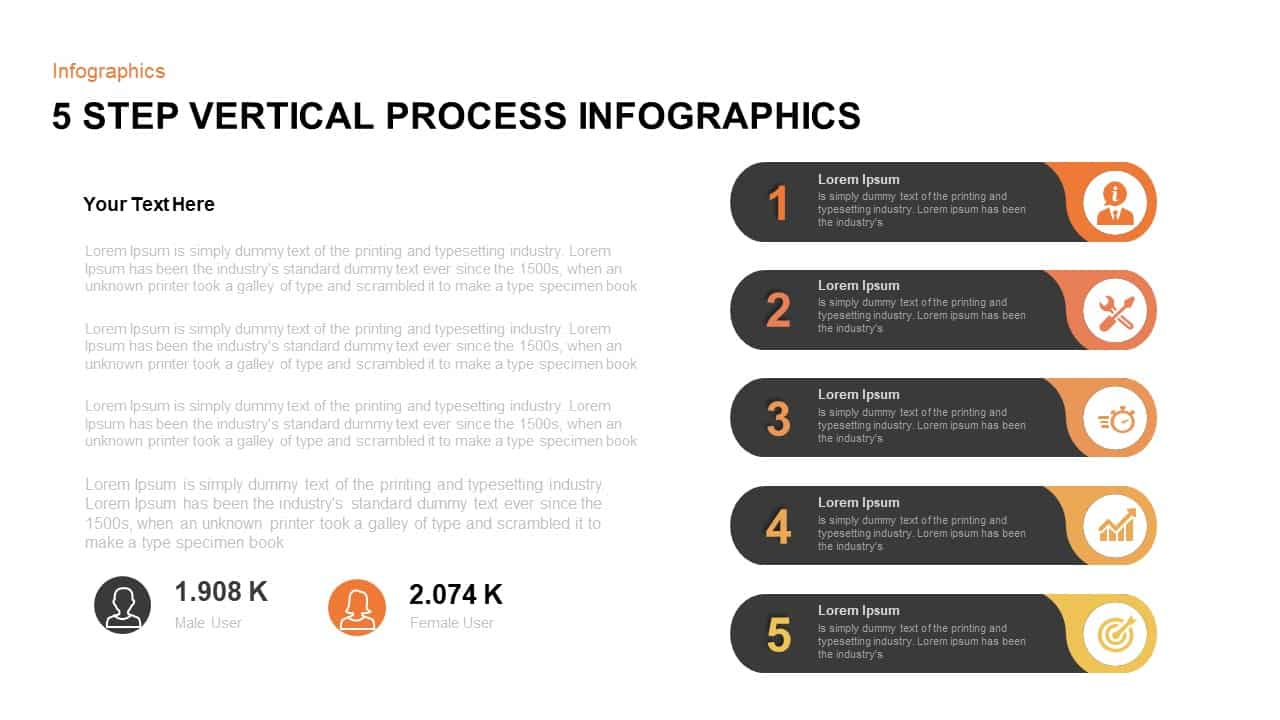 Vertical Process Template for PowerPoint