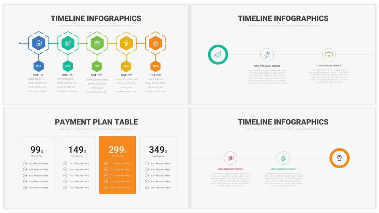 business template for corporate PowerPoint presentations