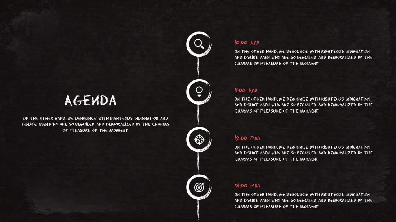 agenda chalkboard powerpoint template