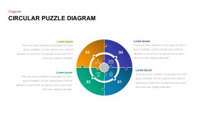 Circular Puzzle Diagram Template
