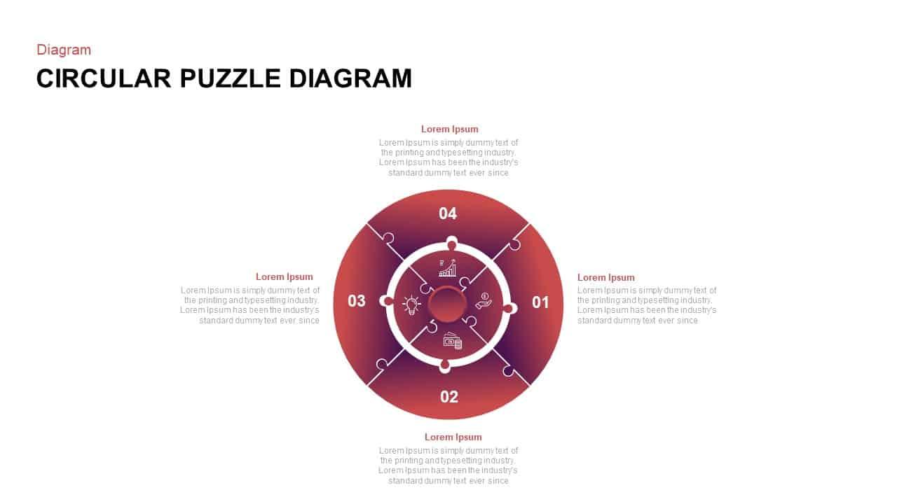 circular puzzle diagram powerpoint