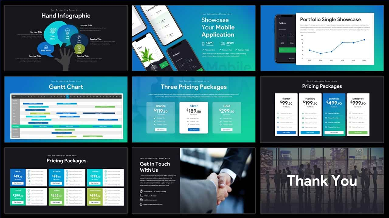 pitch deck PowerPoint template for business presentation