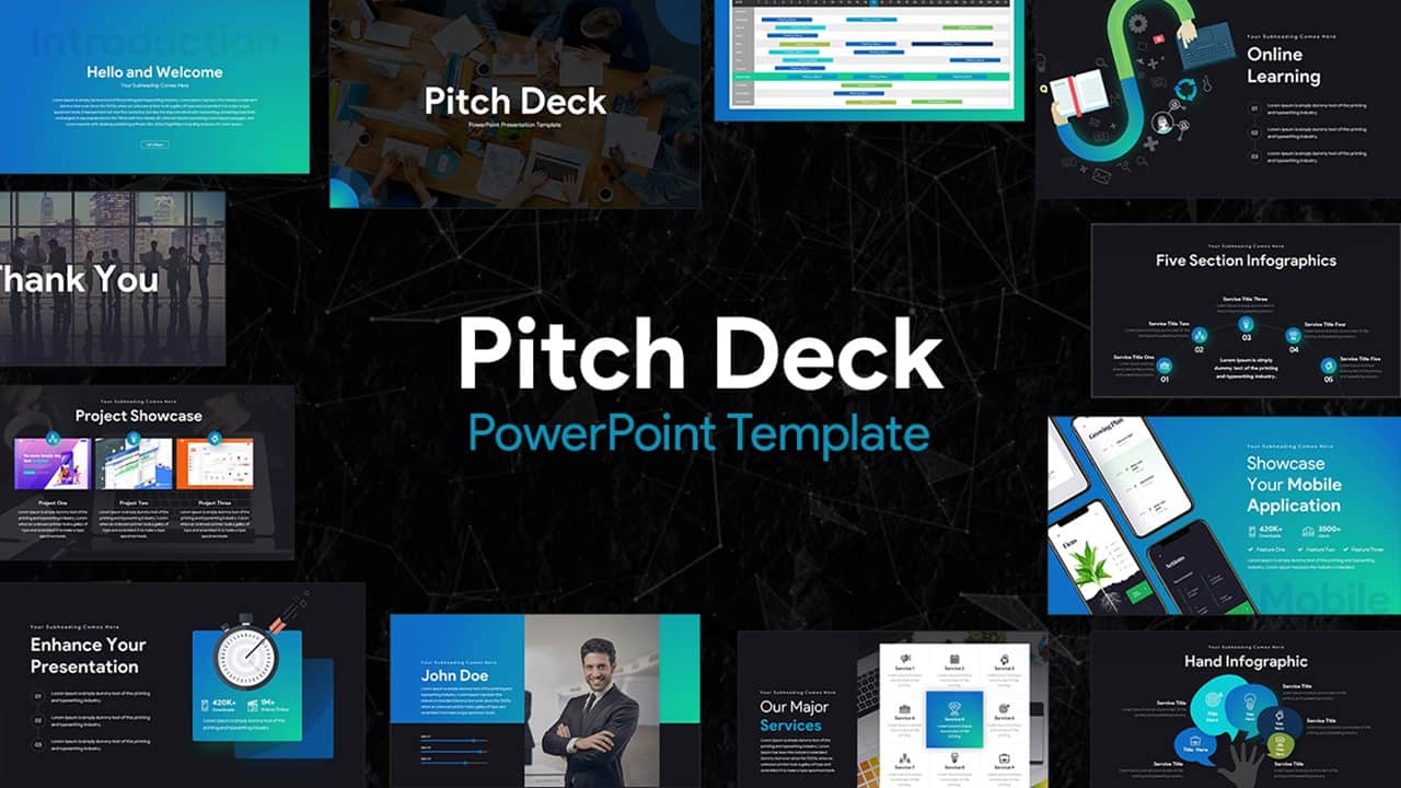 pitch deck ppt template