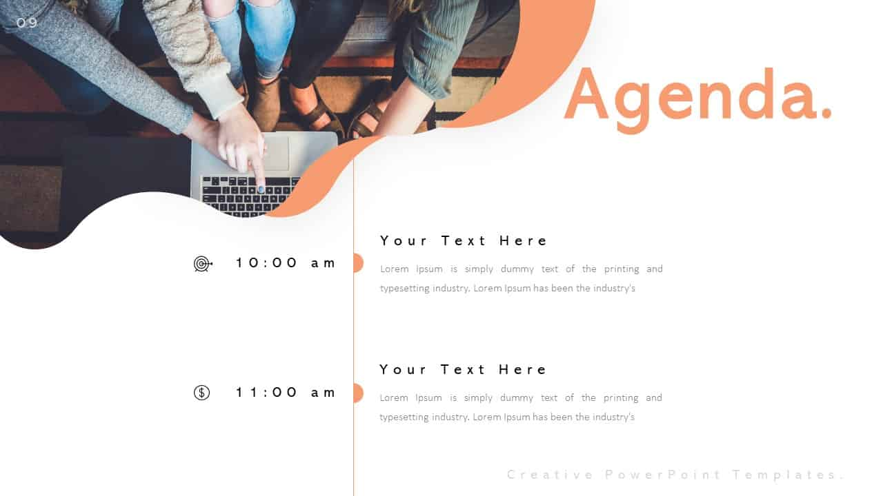 Creative Agenda PowerPoint Templates