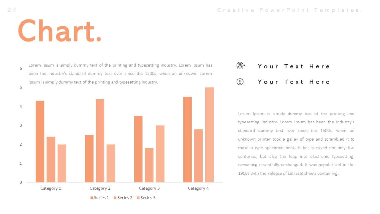 Creative Chart PowerPoint Templates