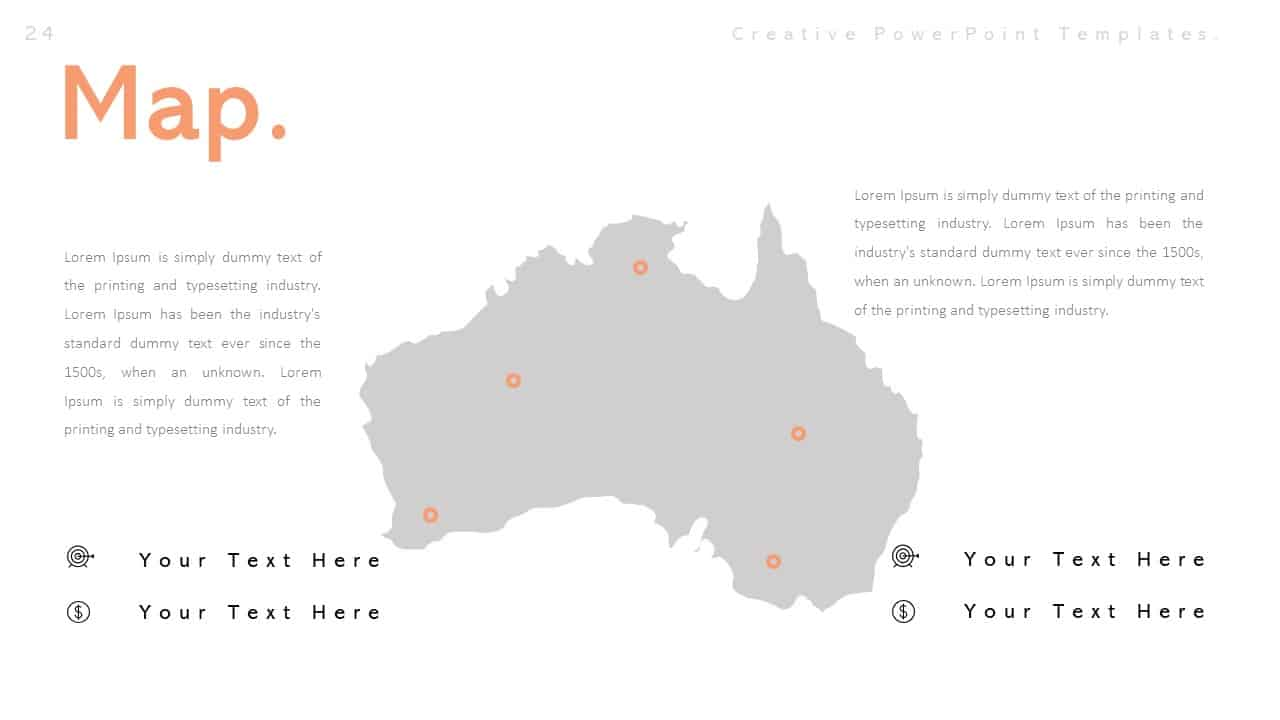Creative Map PowerPoint Templates