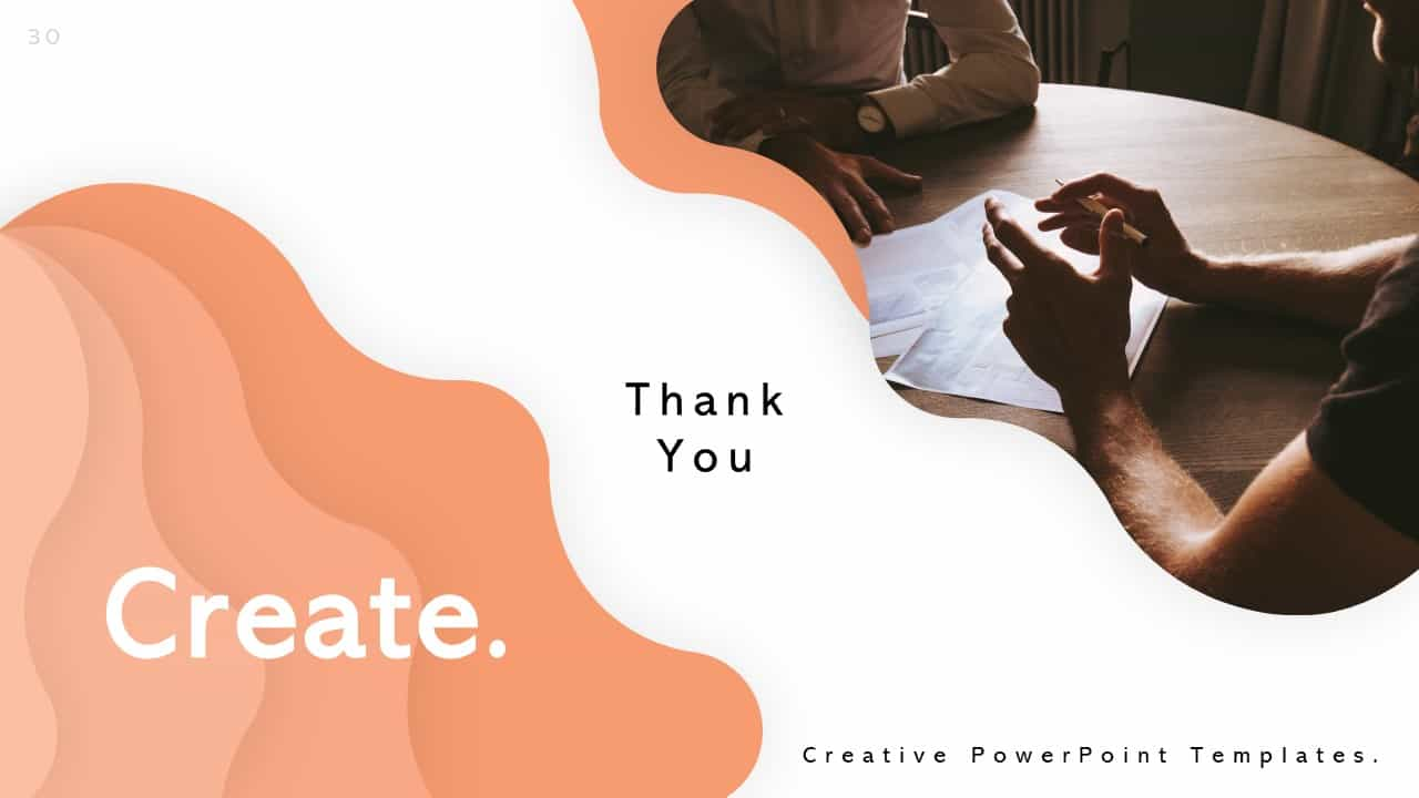 Creative PowerPoint Templates Slide for Presenting Thank You
