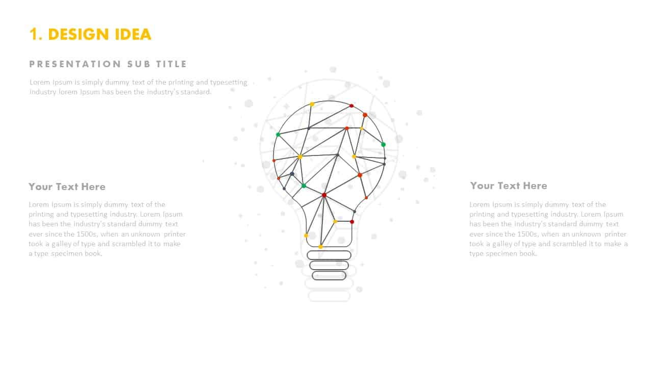 Design idea light bulb template PowerPoint