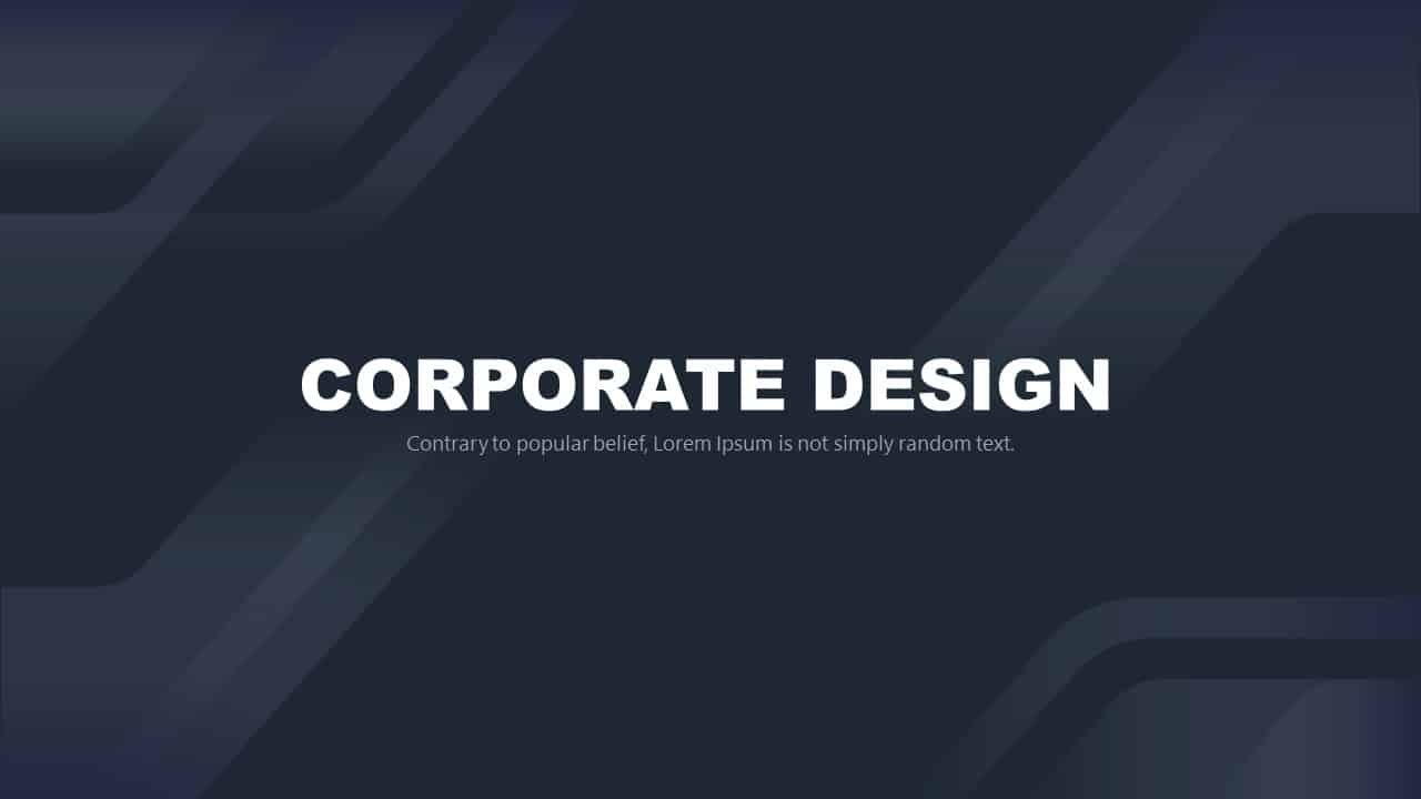 Free Corporate PowerPoint Template Design