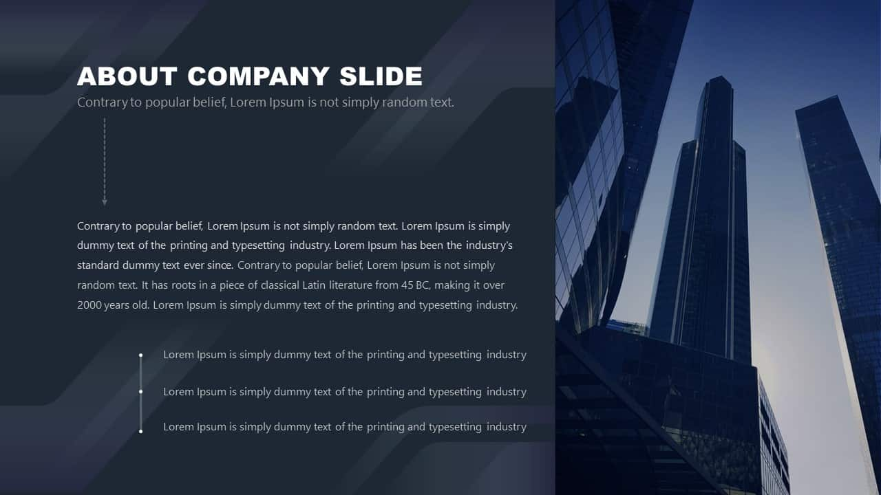 Free Corporate PowerPoint Template Design About Company