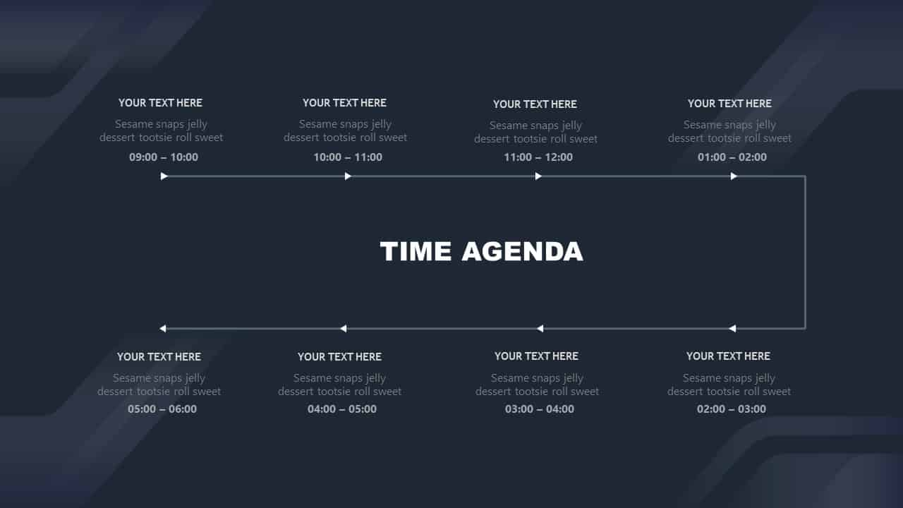 Time Agenda Free Corporate PowerPoint Template Design