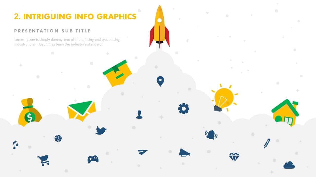 Intriguing infographics product launch template