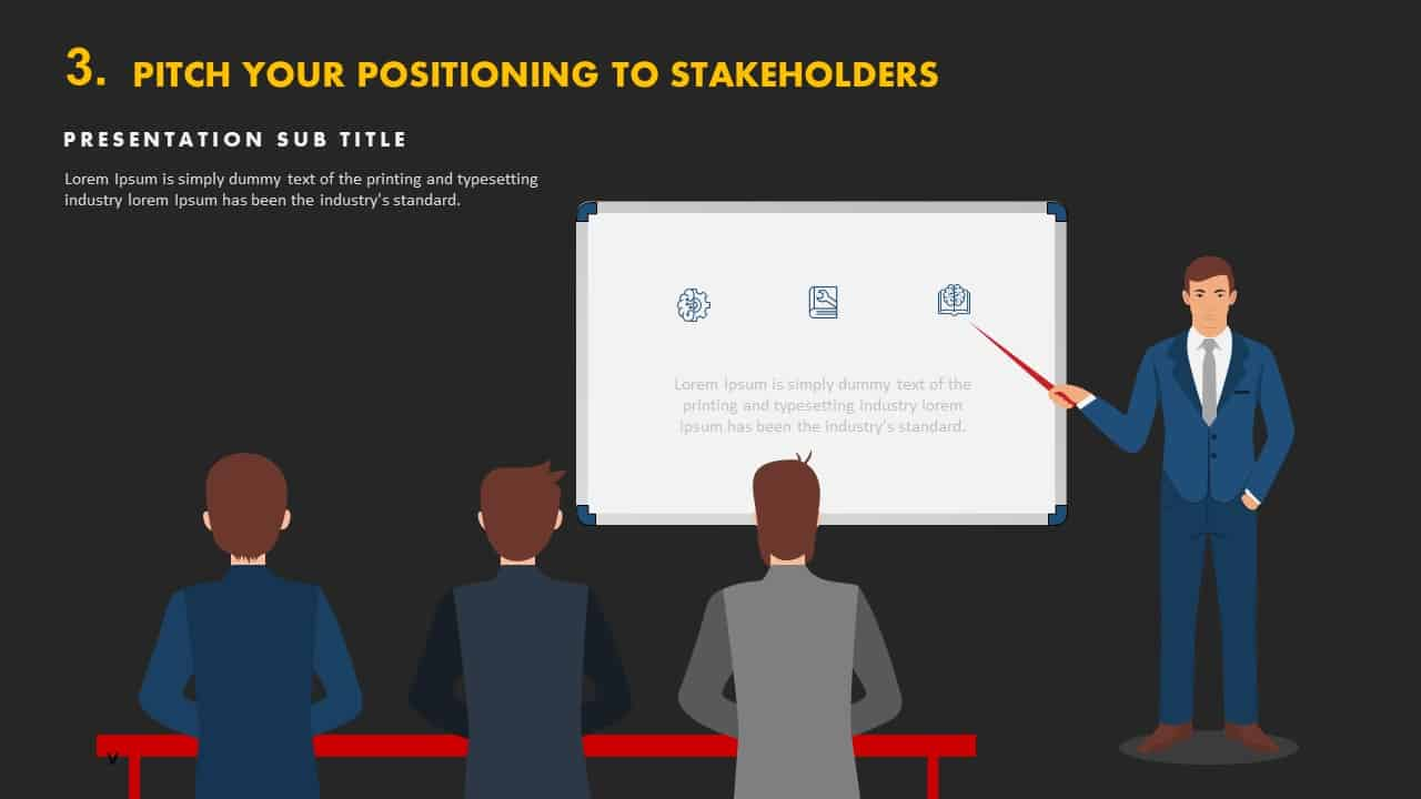 Pitch your positioning to stakeholders template