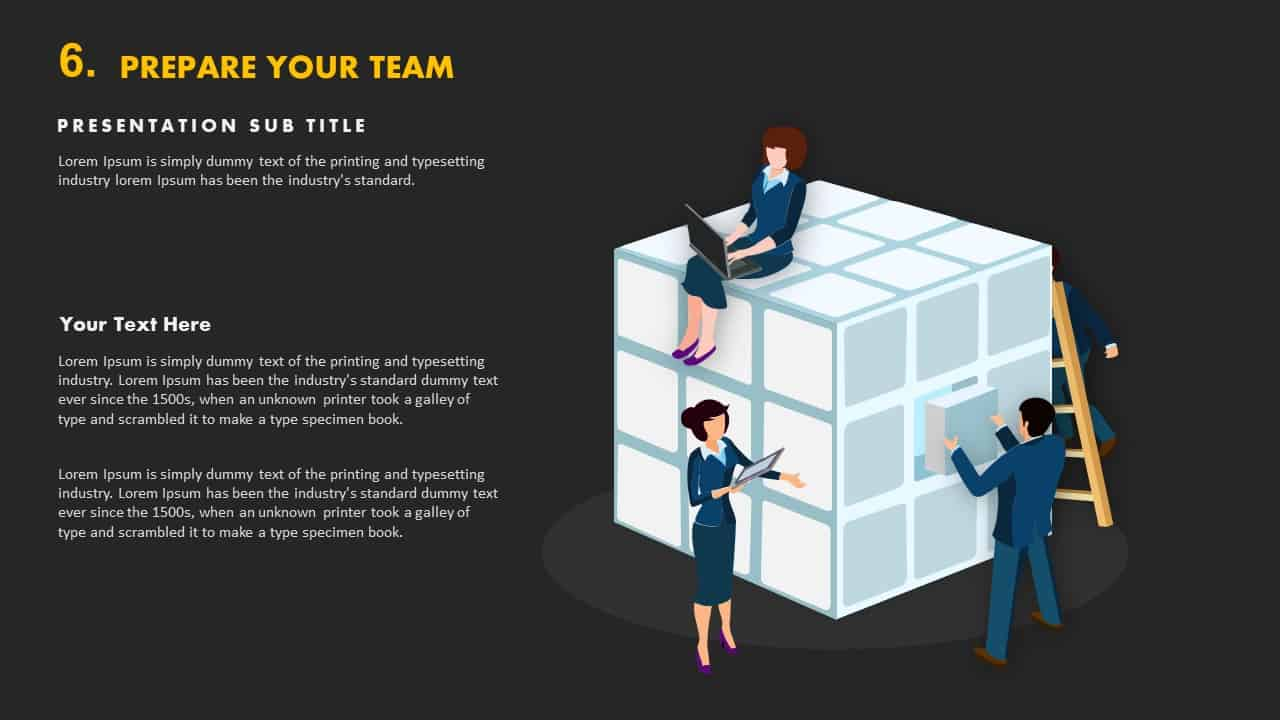 Prepare your team template PowerPoint