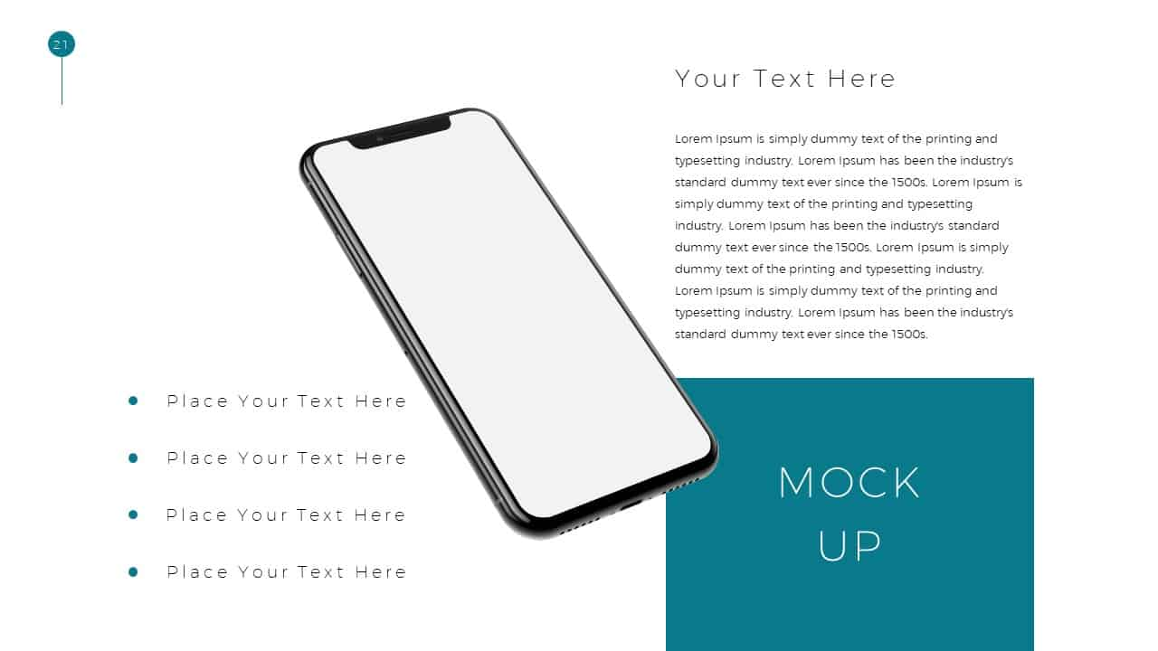 Simple Business Deck Smartphone Templates