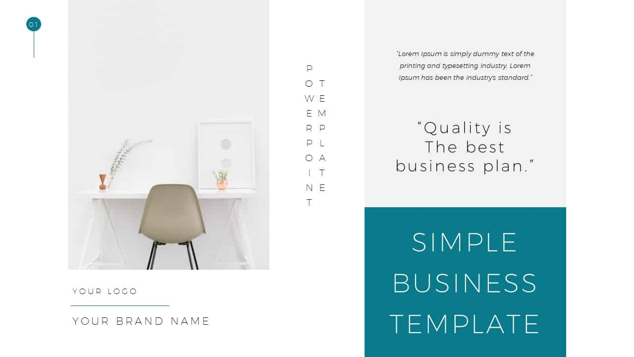 Simple Business Deck Templates