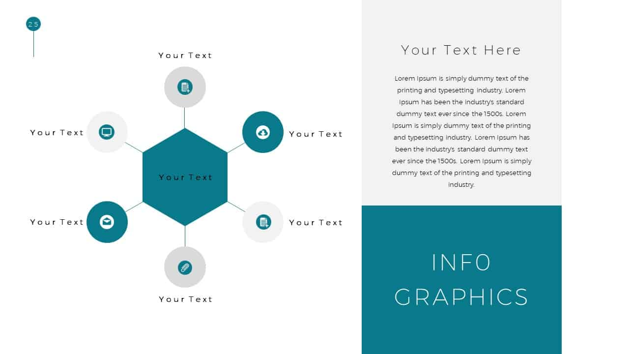 Simple Business Deck Templates for Infographic Presentation