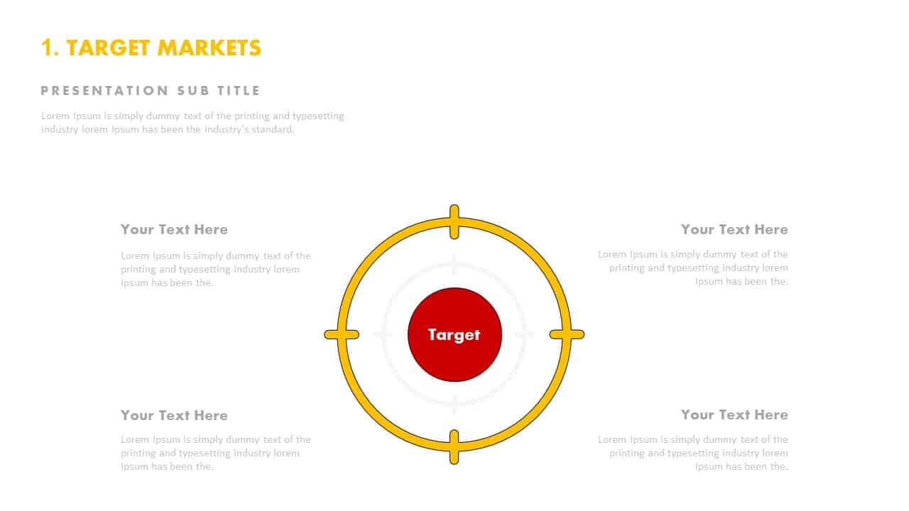 Target market template PowerPoint