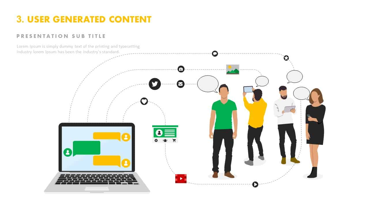 User generated content template PowerPoint