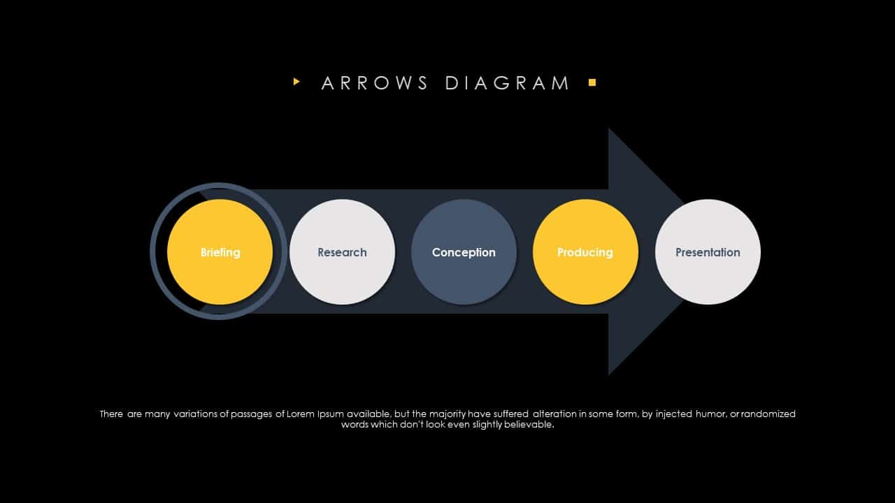 Arrows Diagram Template for PowerPoint