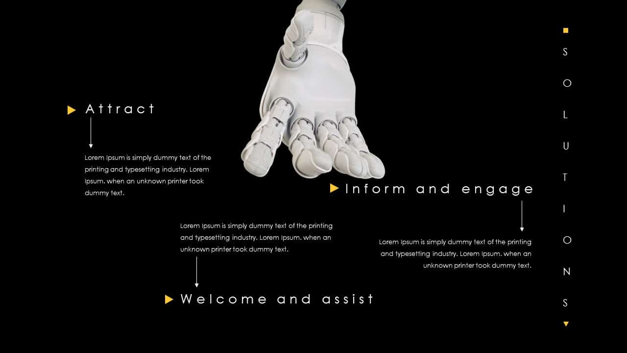 Artificial Intelligence Robotics Deck Template for PowerPoint Presentation