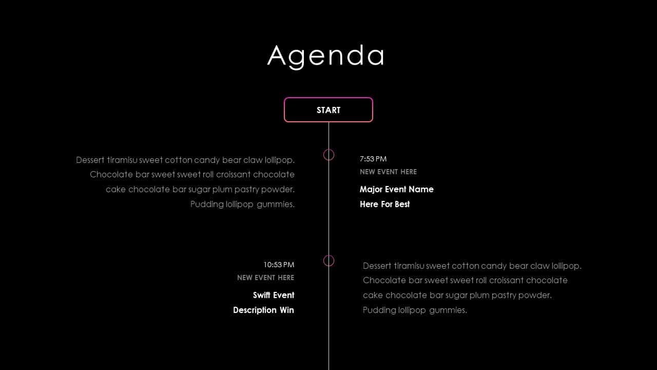 Business PowerPoint Presentation Agenda Template