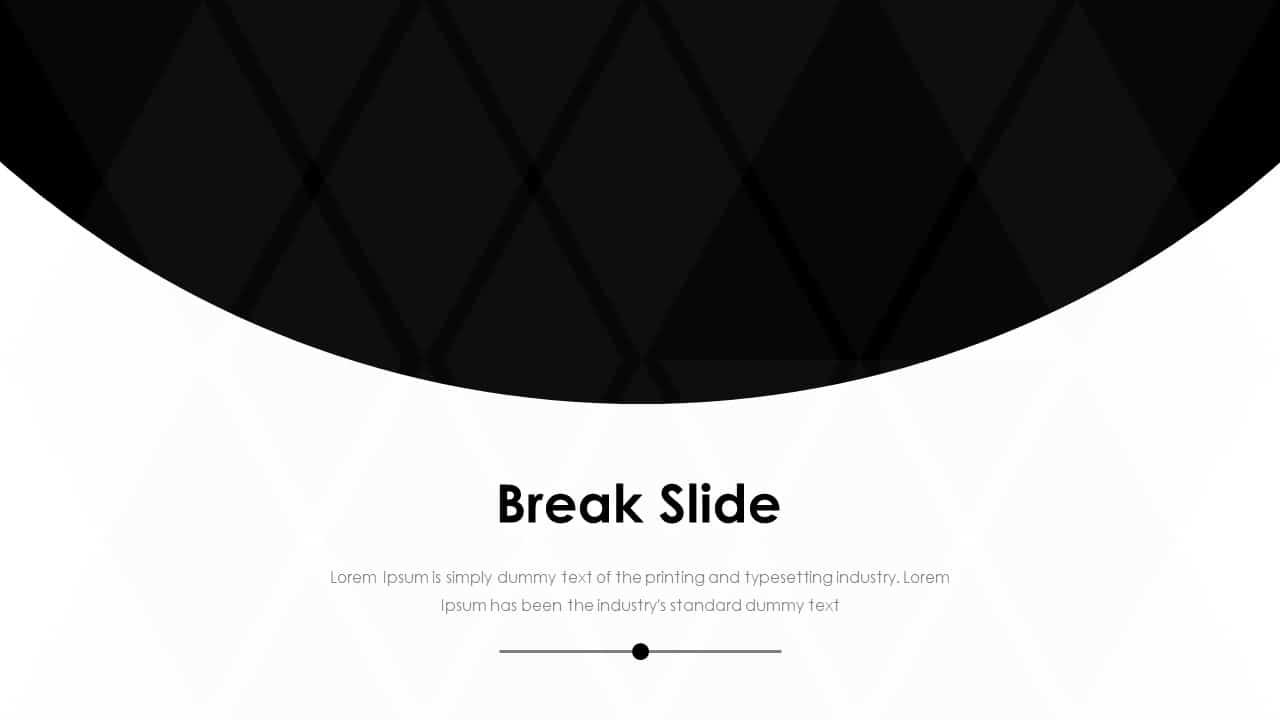 Business PowerPoint Presentation Template Break Slide