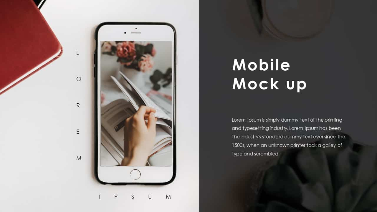 Business PowerPoint Presentation Template Mobile Mockup