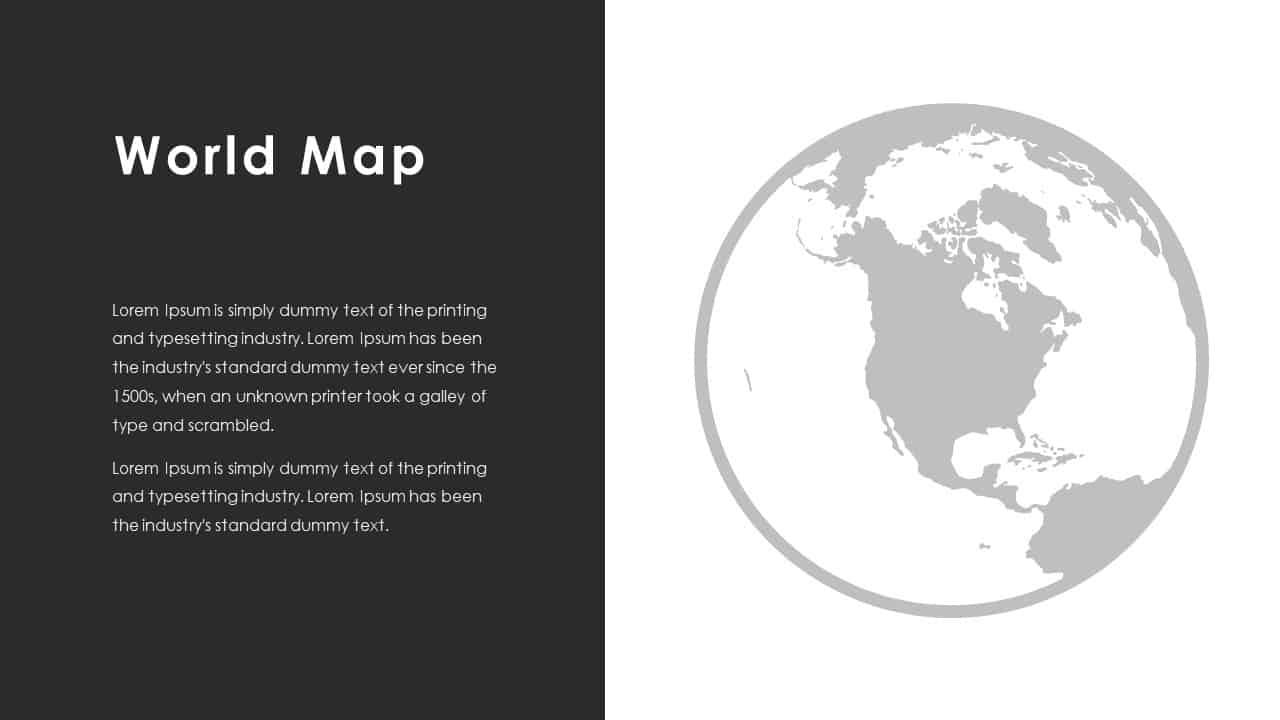 Business PowerPoint Presentation Template World Map