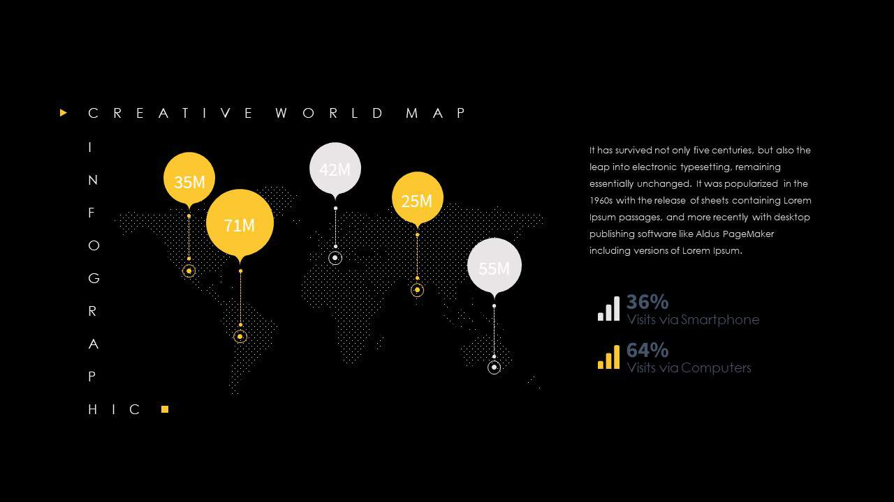 Creative World Map PowerPoint Template