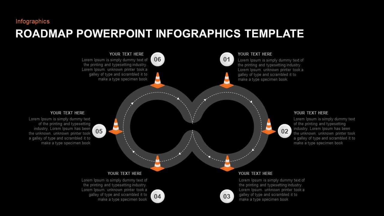Roadmap Infographic Template Ppt