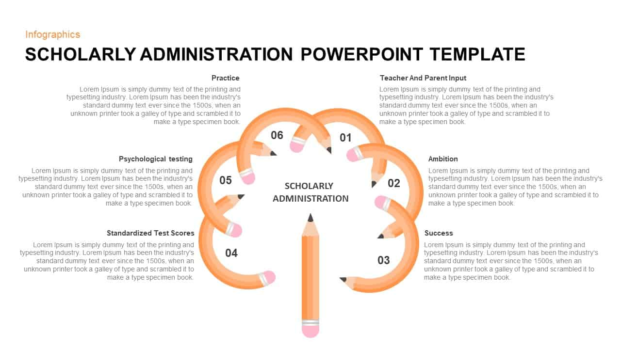 Scholarly Administration PowerPoint Template