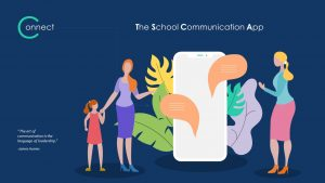 School Communication App Deck Template for PowerPoint Presentation