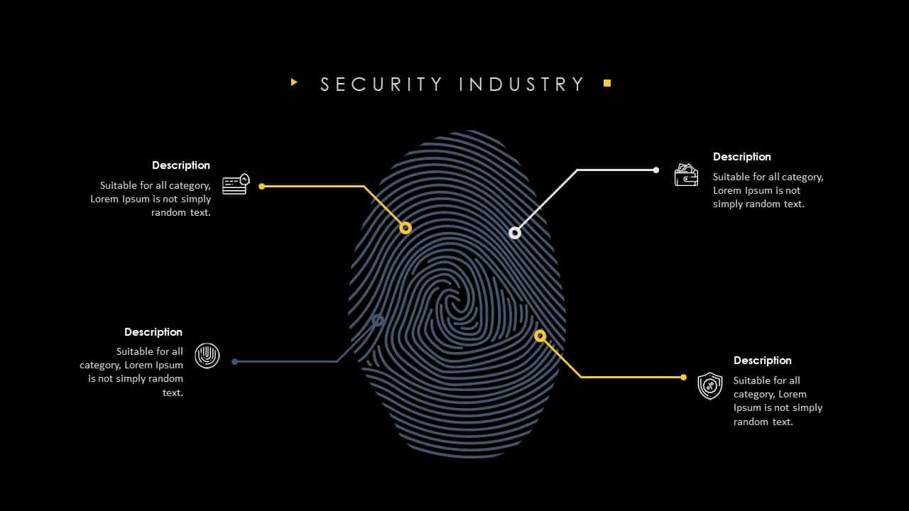 Security Finger Print Powerpoint Template
