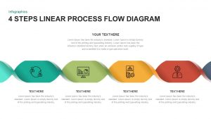 4 Steps Linear Process Flow Diagram