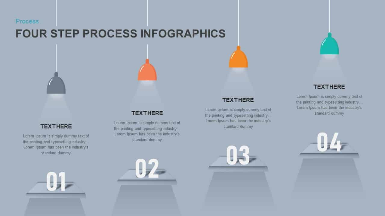 4 step process infographic powerpoint template