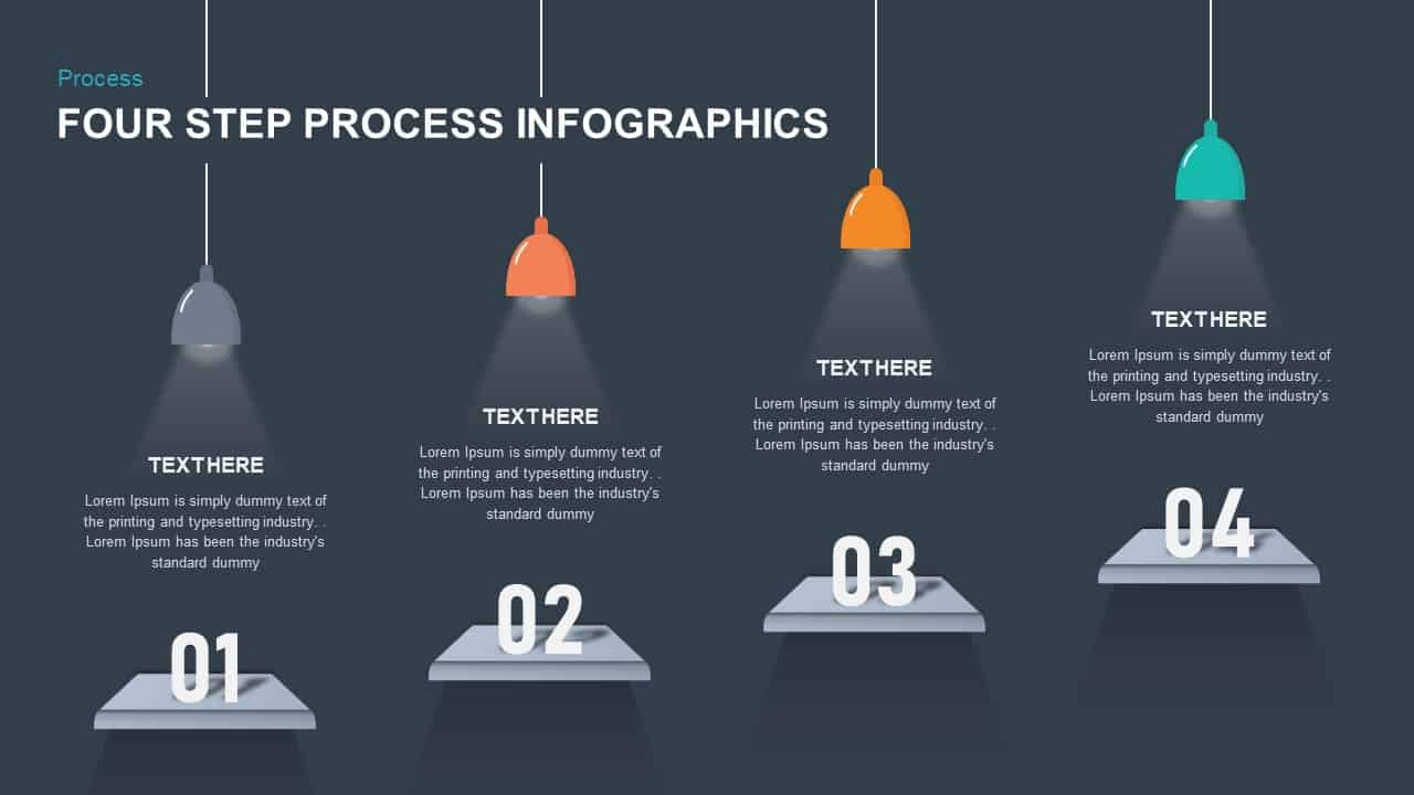 4 step process infographic template