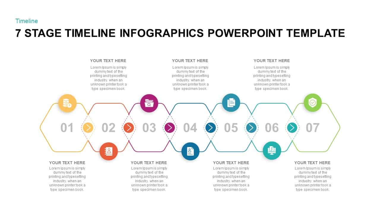 7 stage timeline infographic template