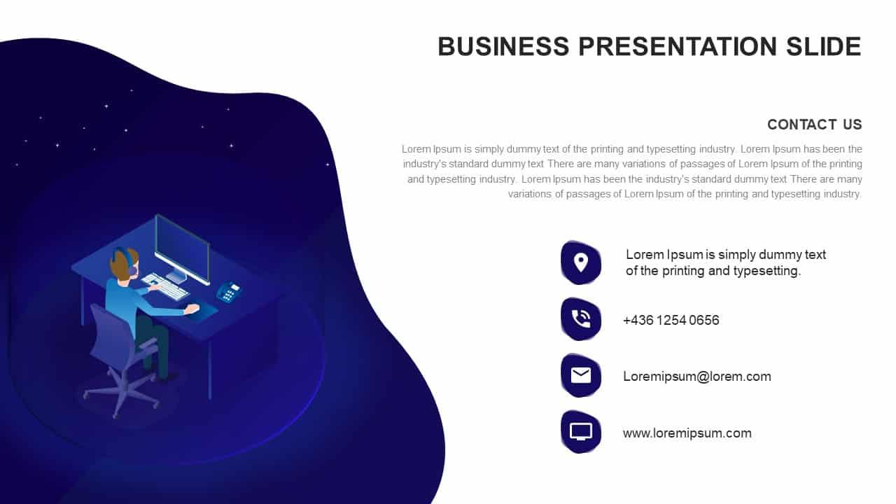 Business presentation ppt diagram