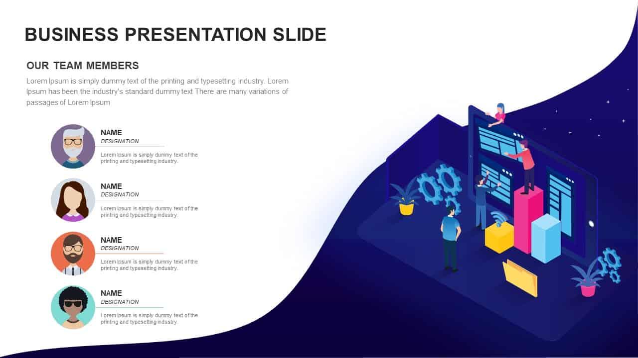Business presentation ppt template