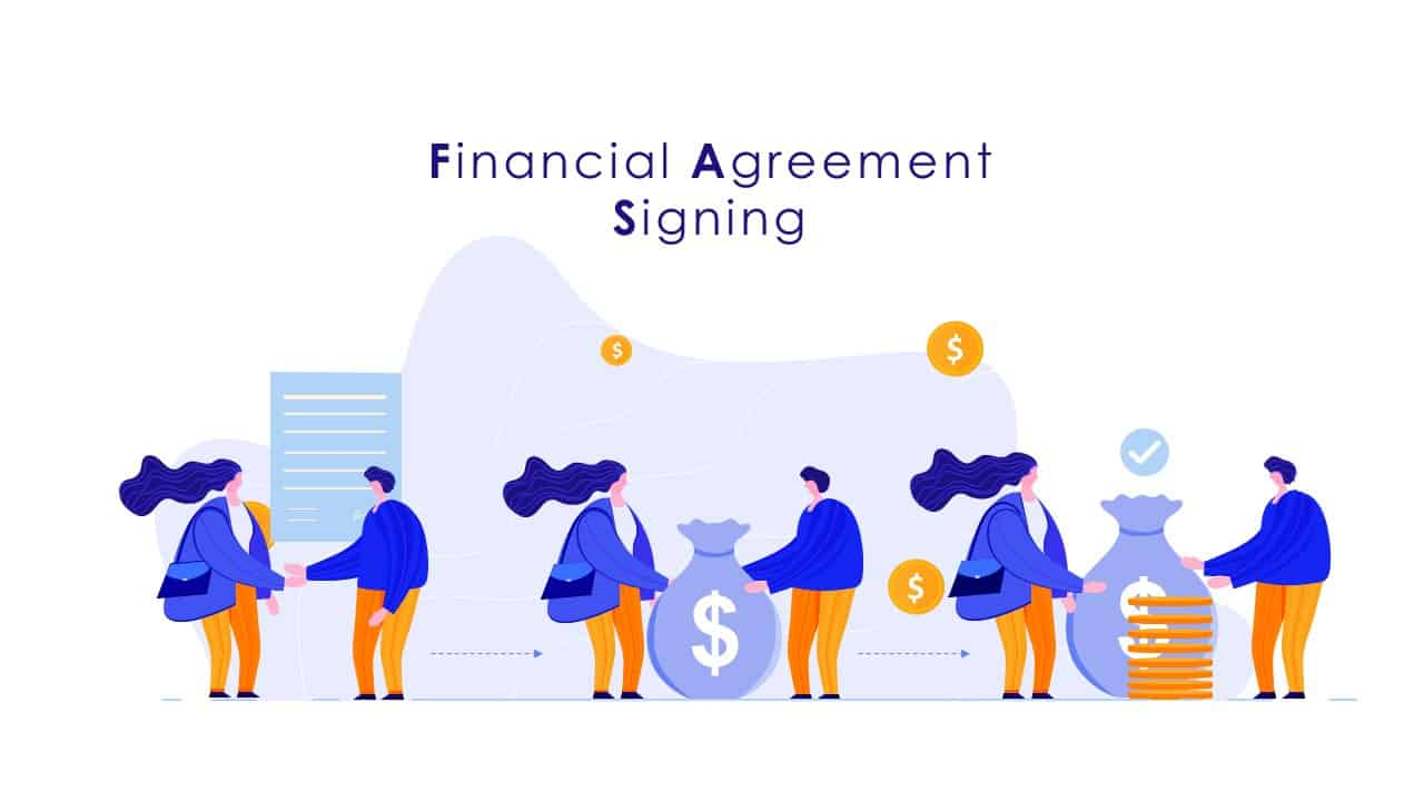 Financial Agreement Signing PowerPoint Template