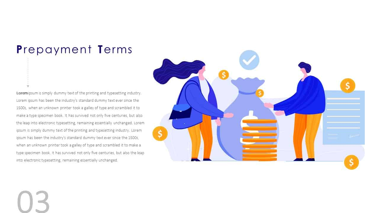 Financial Agreement Signing Template Prepayment Terms