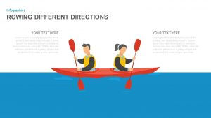 Rowing Different Directions Illustration for PowerPoint