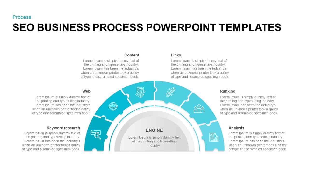 SEO Business Process PowerPoint Template