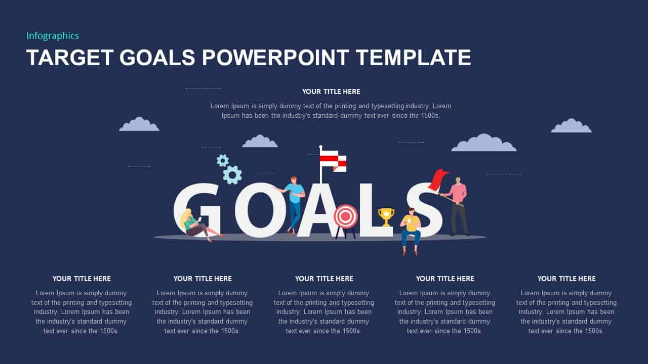 Target goals Ppt template for infographic presentation
