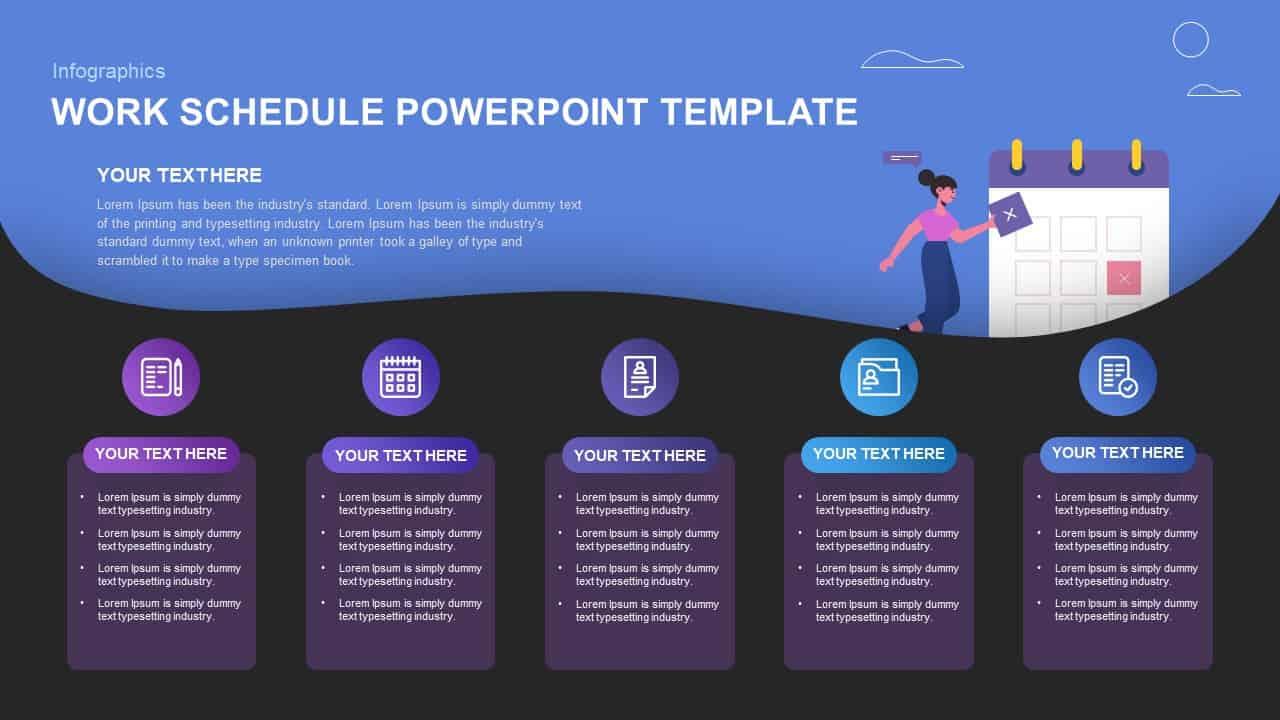 Work Schedule Template PowerPoint