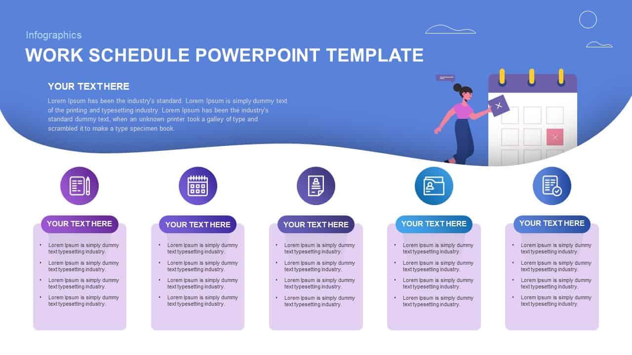 work schedule powerpoint template